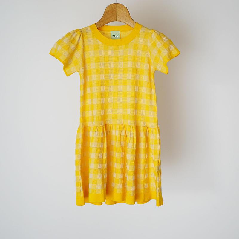 Tartan Dress YELLOW×ECRU  (FUB) 90~130cm
