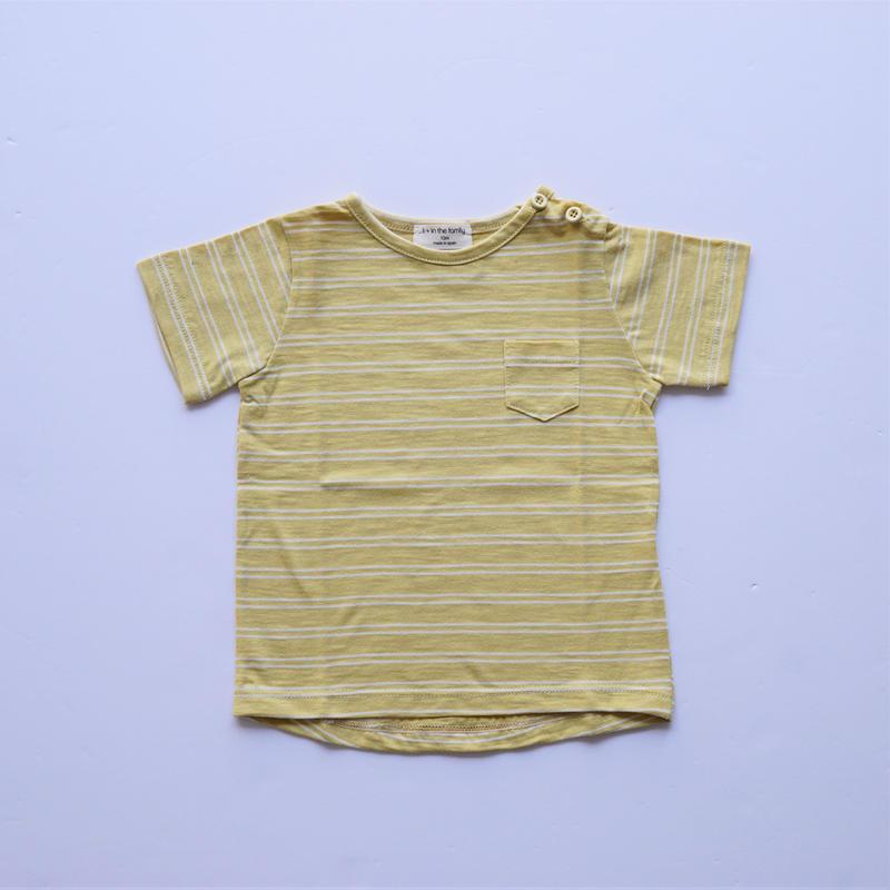 ボーダーTシャツ YELLOW×WHITE  (1+in the family ) 12M