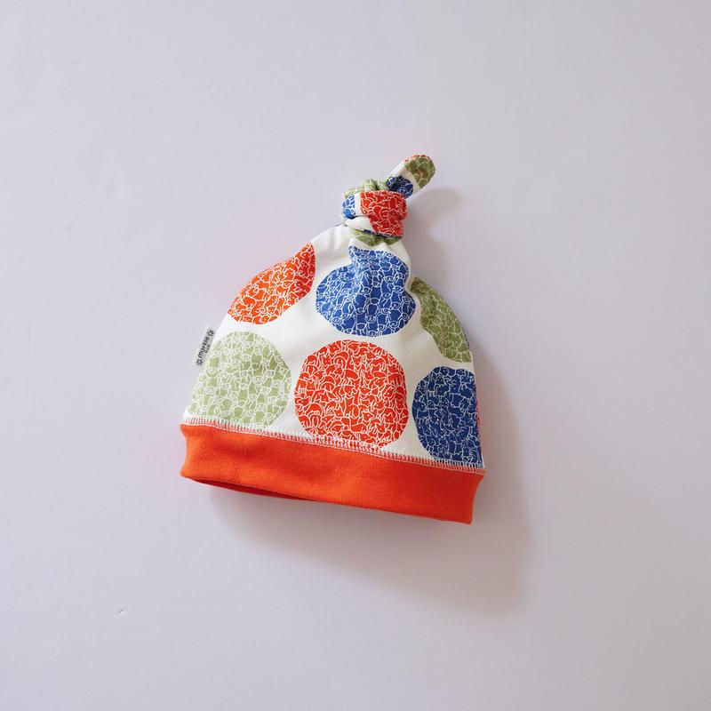 LOTS OF DOT BABY CAP ORANGE  (marble SUD)