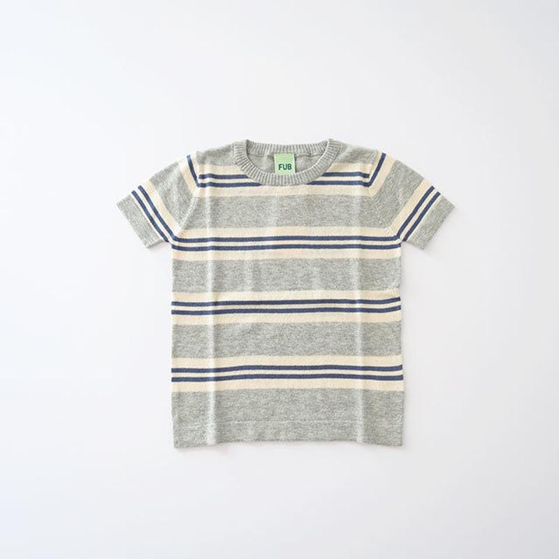 ストライプ Tシャツ gray/ecru/denim (FUB) 100~130cm