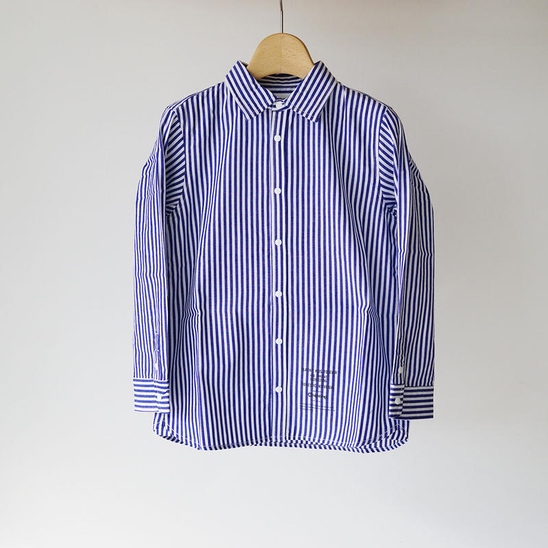 culture shirt STRIPE BLUE (highking) 150~160cm
