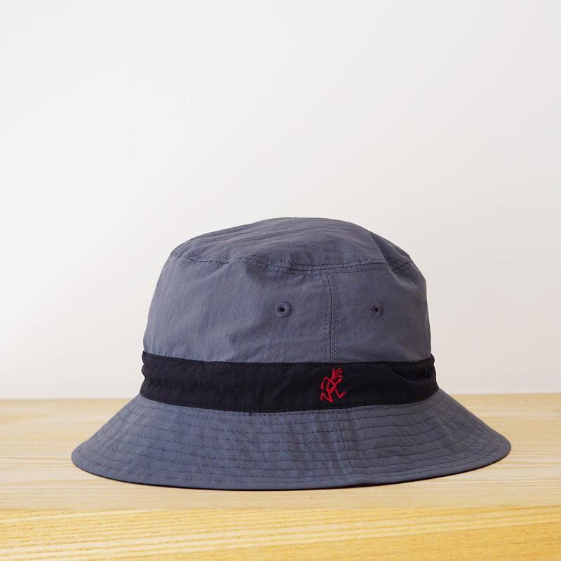 SHELL REVERSIBLE HAT BLACK×CHARCOAL  (GRAMICCI) KIDS 53cm
