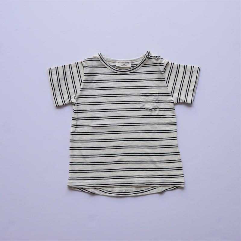 ボーダーTシャツ WHITE×BLACK   (1+in the family ) 12M