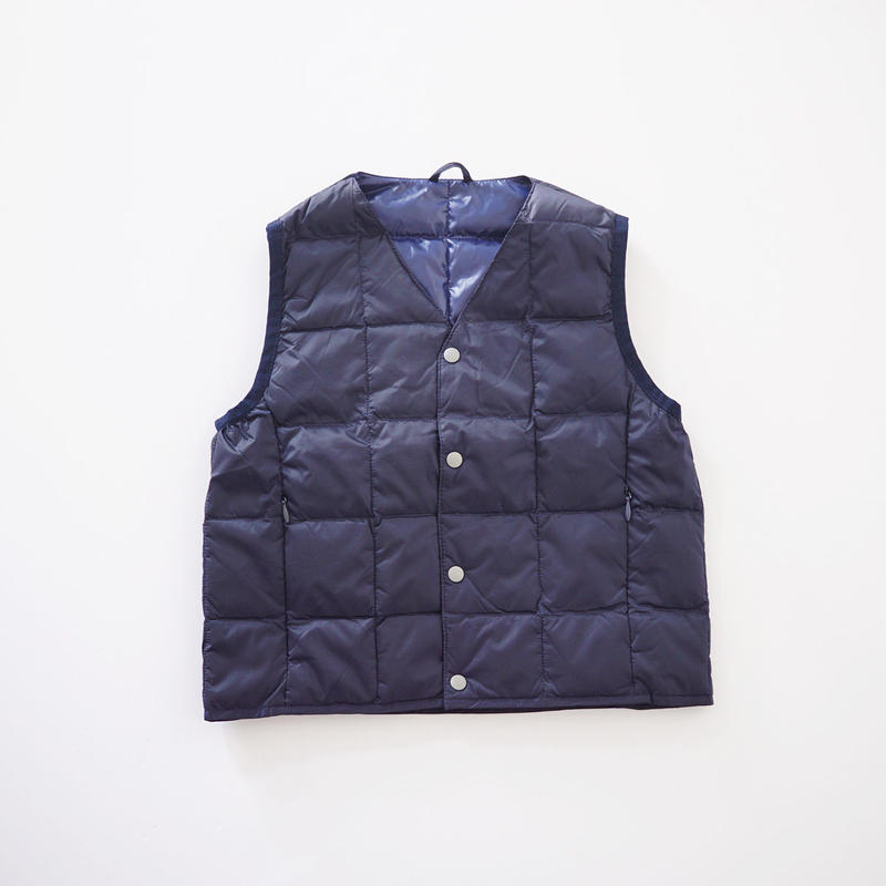 V NECK BTN DOWN VEST NAVY (TAION) 100~140cm