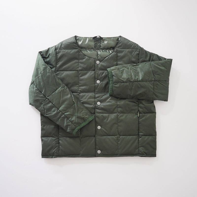 CREW NECK BTN DOWN JKT GREEN (TAION) 100~140cm
