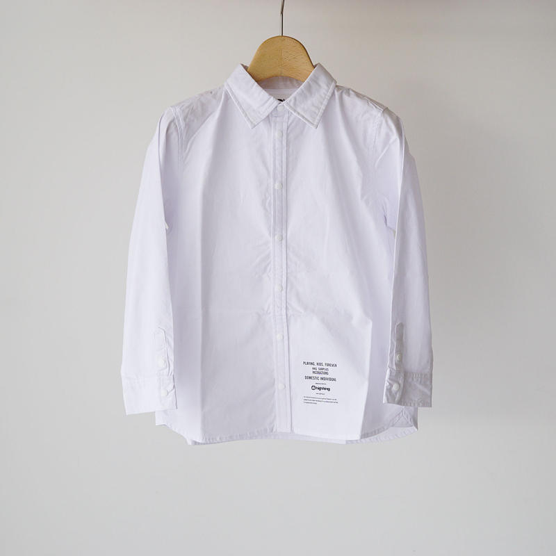 culture shirt WHITE (highking) 150~160cm