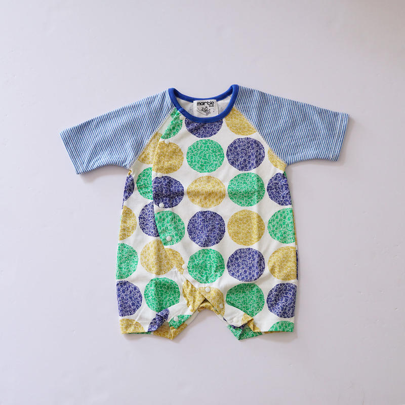 LOTS OF DOT BABY ARCH ロンパース GREEN  (marble SUD) 70cm