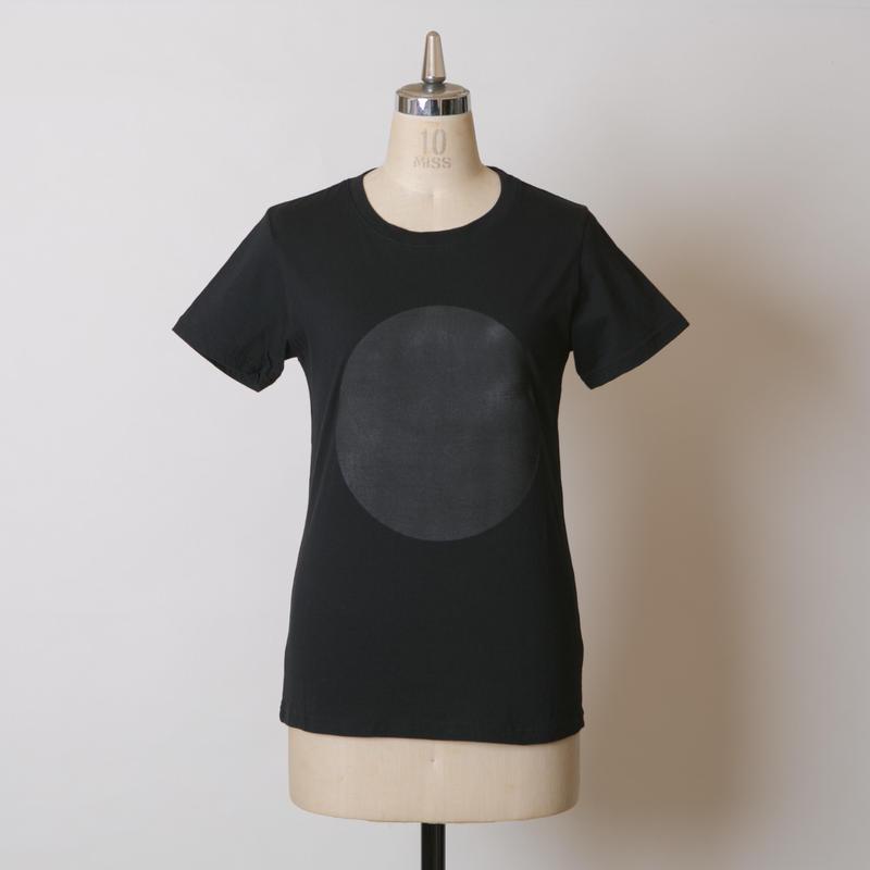 LADY'S高蔵染クルーネックドットTシャツ/162K041(E.ブラック×ブラック大)