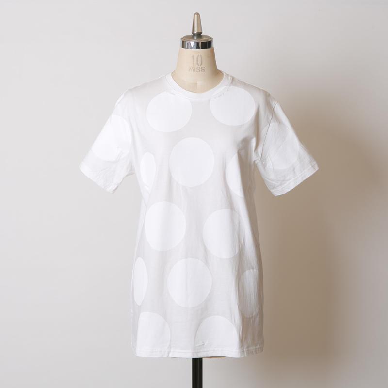 MEN'S高蔵染クルーネックドットTシャツ/162K042(C.オフ×オフドット中)
