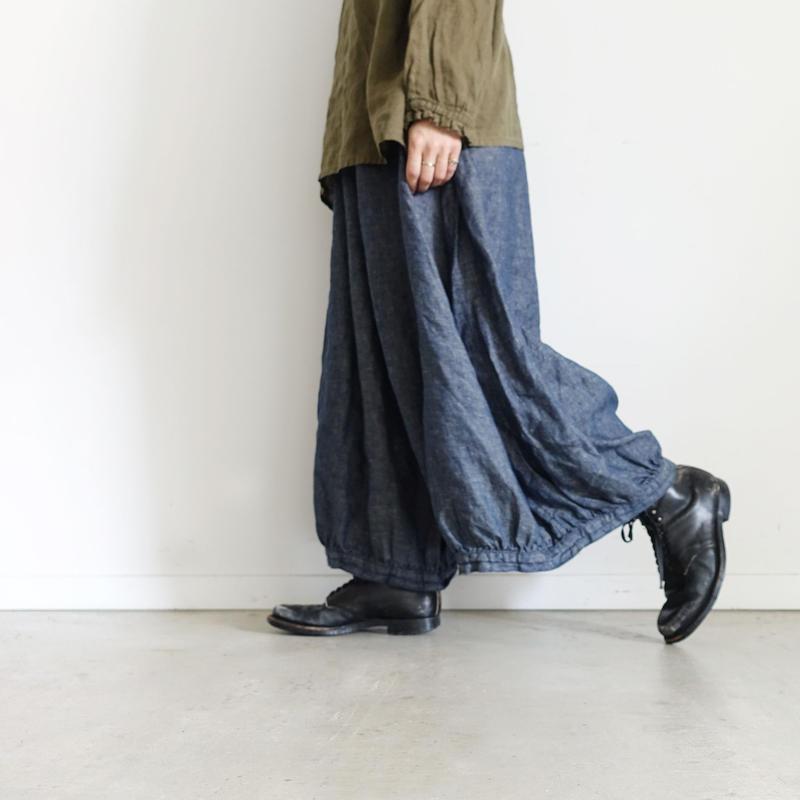 17-0010 Linen Chino Denim Pants / NAVY