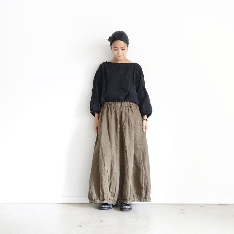 17-0010  Linen Chino Denim Pants  / KHAKI