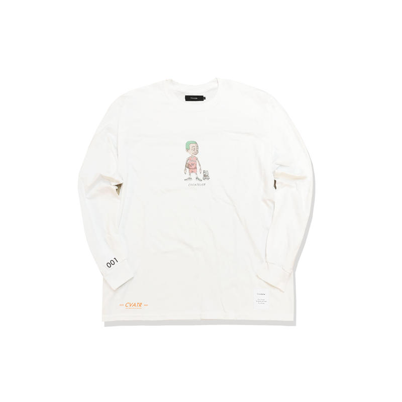 "受注予約 10/6〜10/8 数量限定 Civiatelier ""My Dogs"" Long Sleeve T-shirts WHITE"