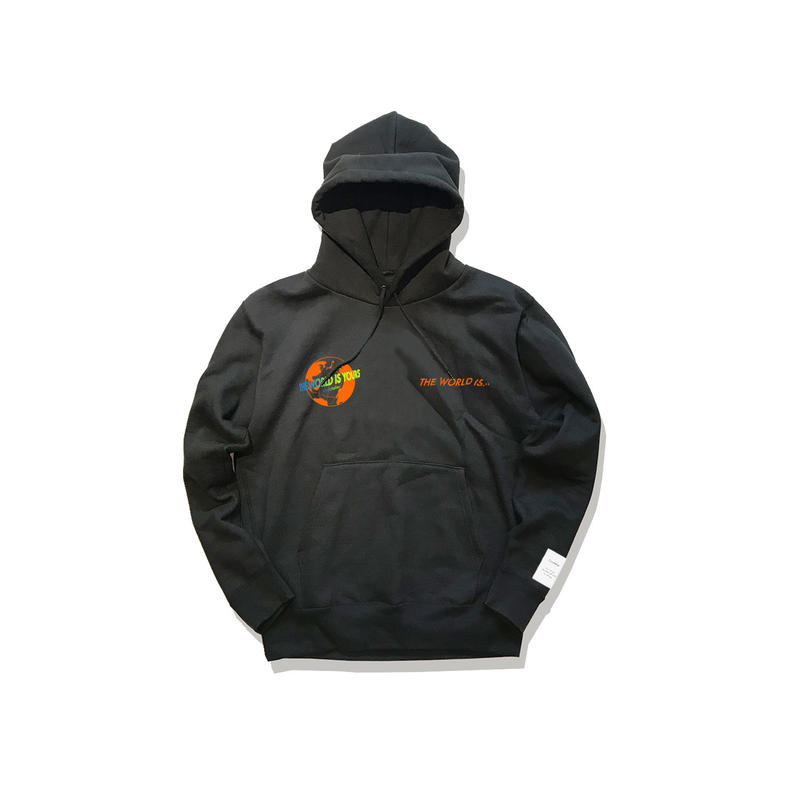 "数量限定 Civiatelier ""The world is yours"" Hoodie BLK×ORANGE"