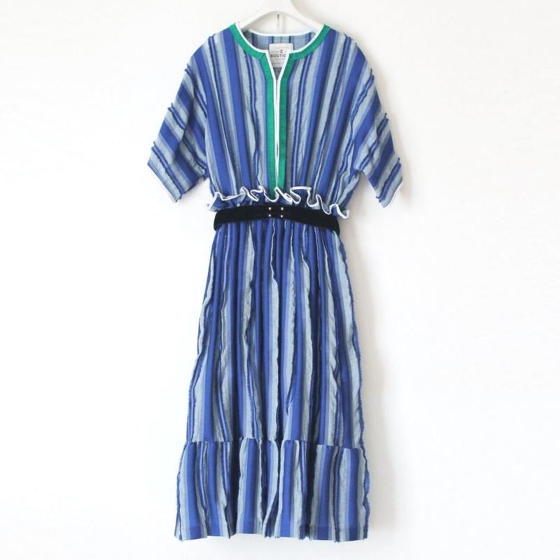 BOUTIQUE fringe stripe dress TE-3204