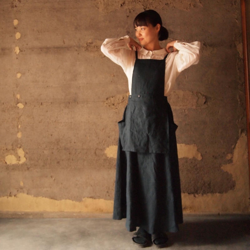 BOUTIQUE X AOYA linen apron TA-AP-01 bag付き