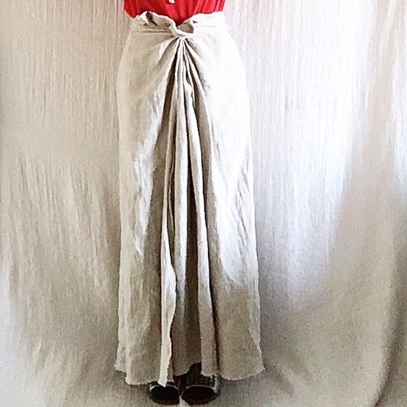BOUTIQUE  linen  wrap skirt  TC-3500'