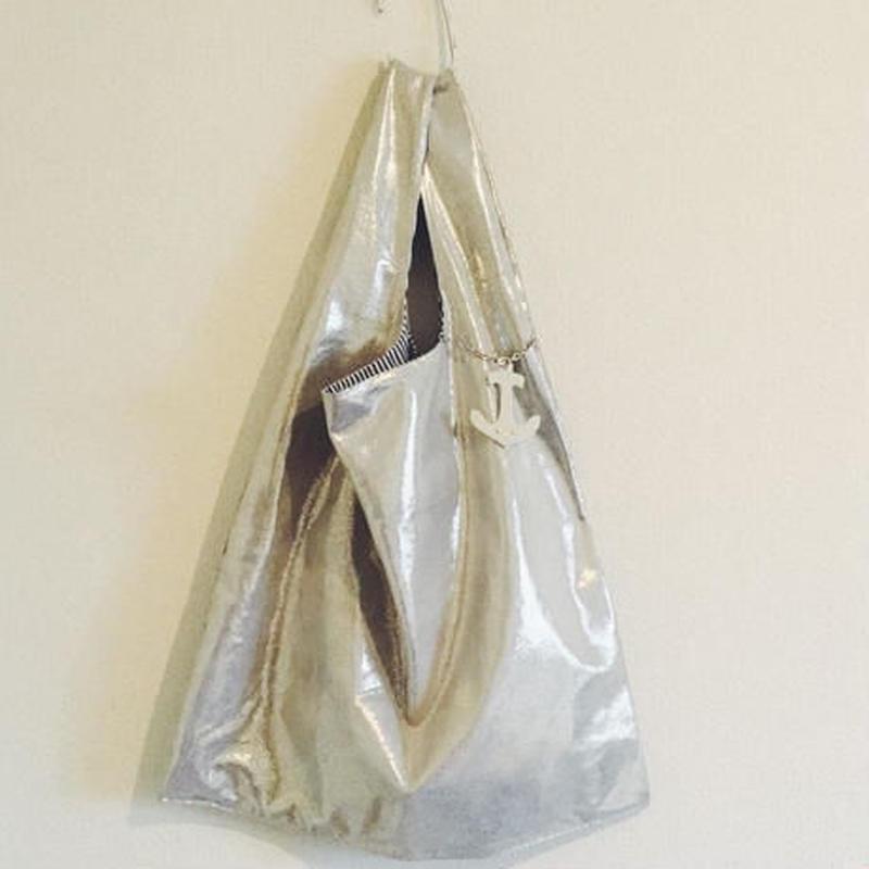 BOUTIQUE metallic silver bag (BIG ) TJZ-3201