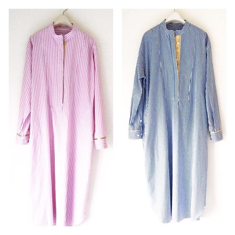 終了しました《予約販売》BOUTIQUE stripe cotton  shirts dress TE-3502