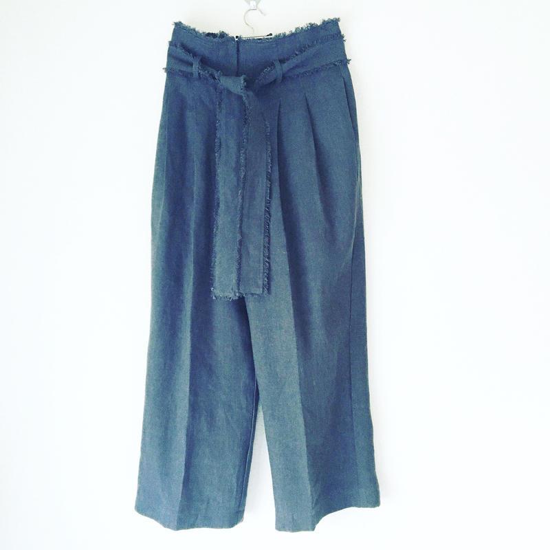 BOUTTIQUE linen fringe pants TS-3400