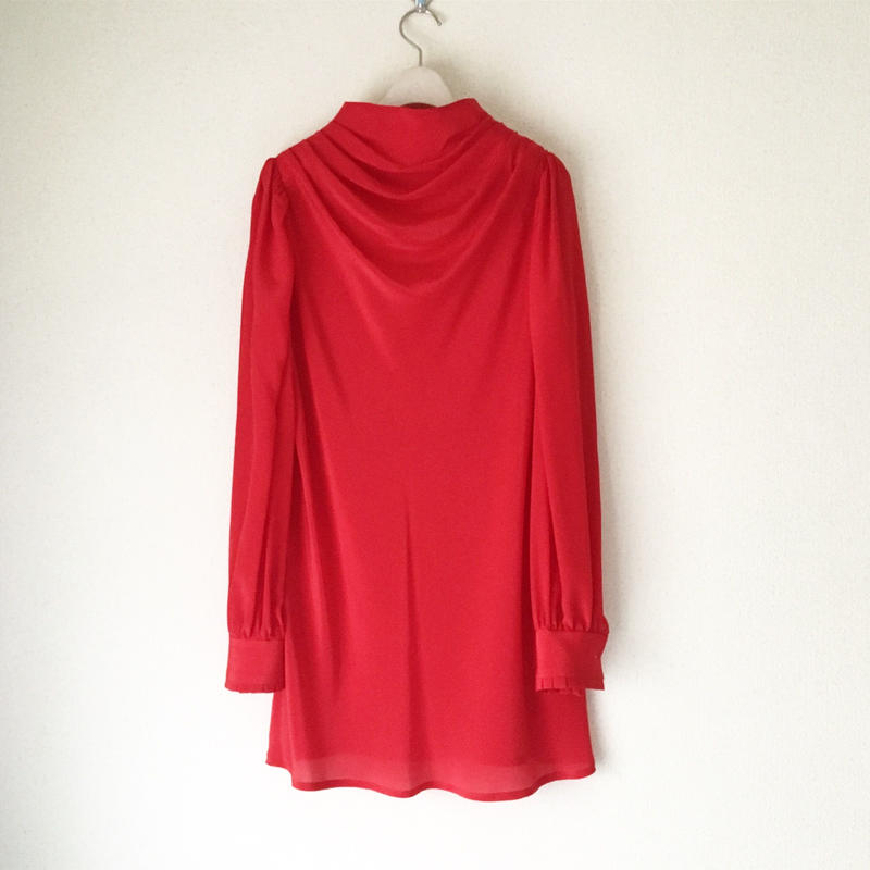 終了しました《予約販売》BOUTIQUE  silk drape long tops (mini dress)TG-3501