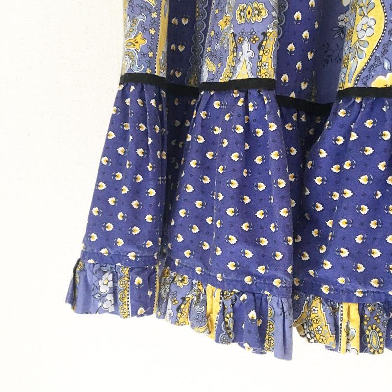VINTAGE  provence  print  skirt