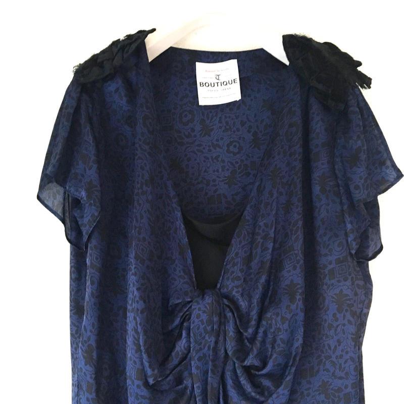 BOUTIQUE  Art Deco flower print dress