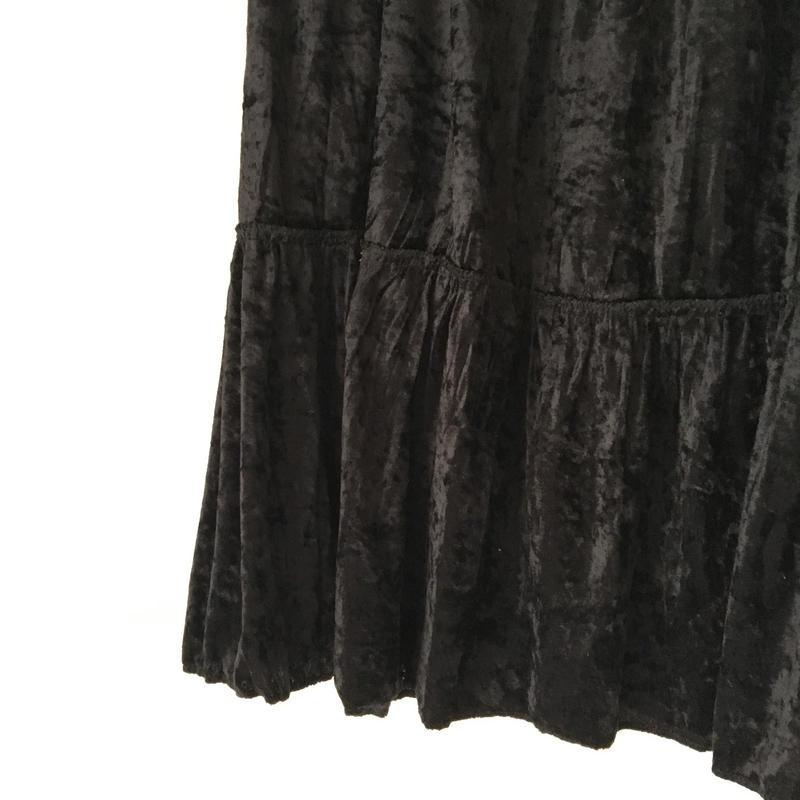 VINTAGE velour skirt/ BLACK