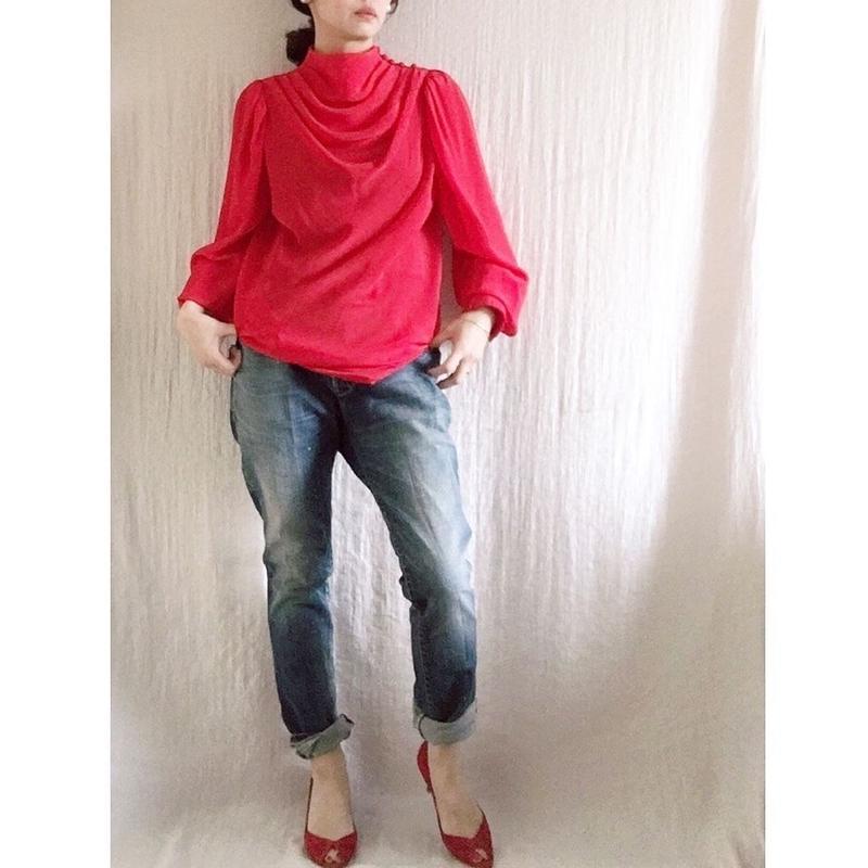 BOUTIQUE  silk drape long tops (mini dress)TG-3501