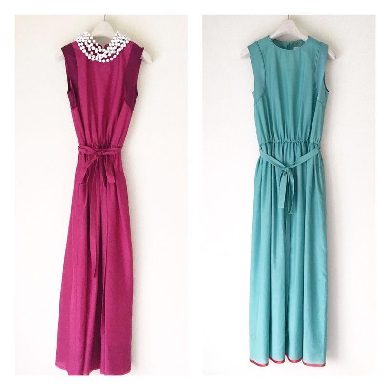 BOUTIQUE cotton silk long dress TE-3007