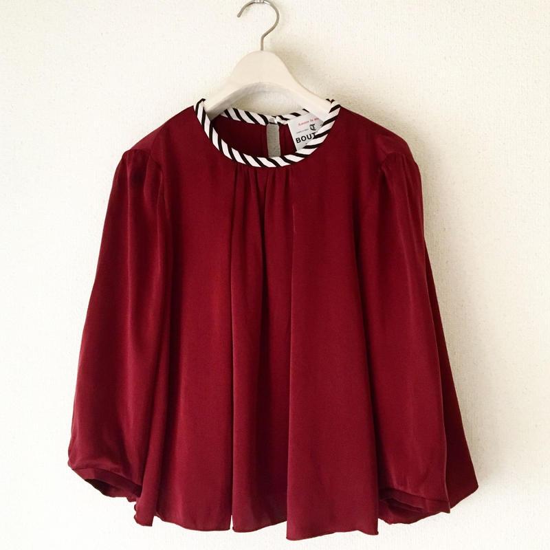 BOUTIQUE silk satin short tops TG-3302/BORDEAUX
