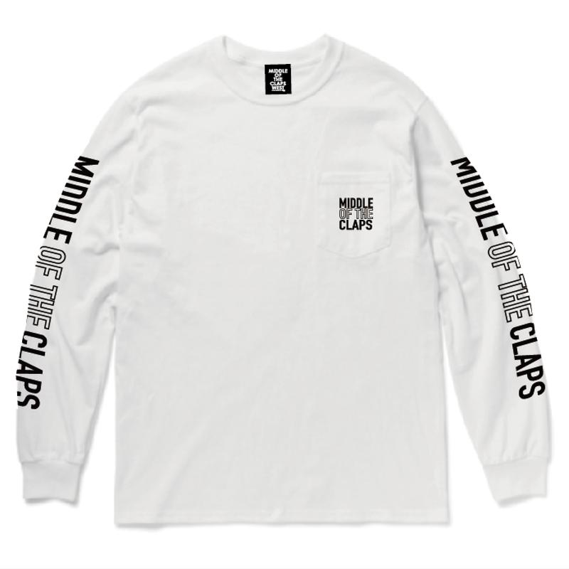 MOC POCKET   L/S  T-SHIRT   (WHITE)