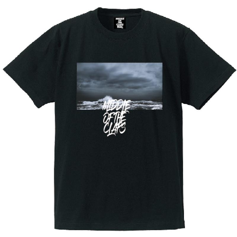 CLAPS Fight sea T-SHIRT  (BLACK)
