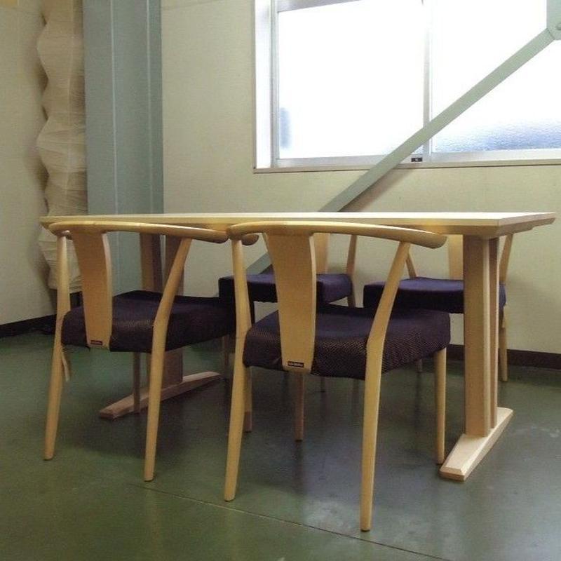 【展示品】カリモク家具 ダイニングセットDT8406モデル+CU46モデル/メープル