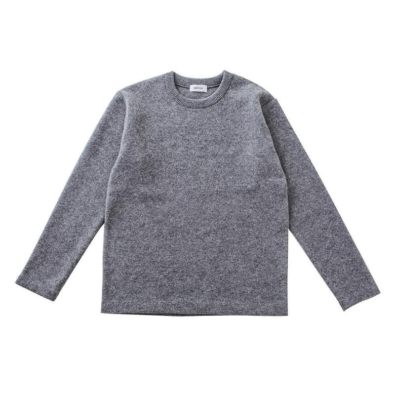 BETTER FELTED WOOL CREW NECK PULL-OVER