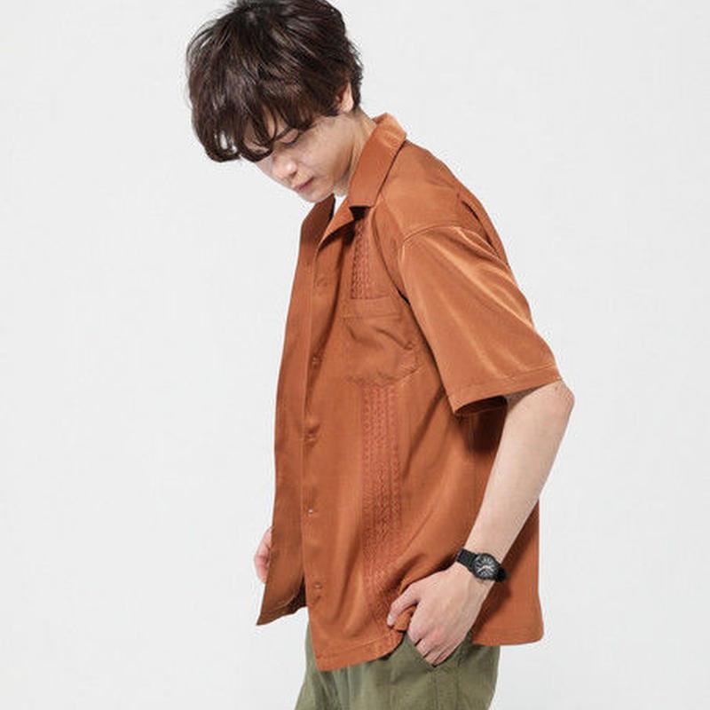 キューバ刺繍シャツ<オープンカラーシャツ>