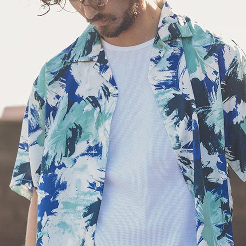 【ANGENEHM(アンゲネーム)】Geometric Open Color Shirts(MADE IN JAPAN) アロハシャツ