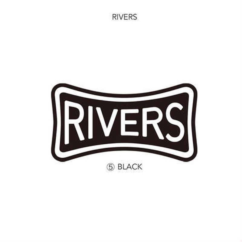 RIVERS(リバーズ) オリジナルステッカー RIVERS BLACK