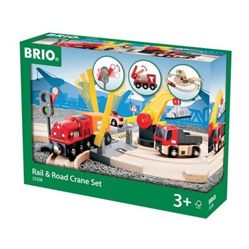 BRIO(ブリオ) レール&ロードクレーンセット