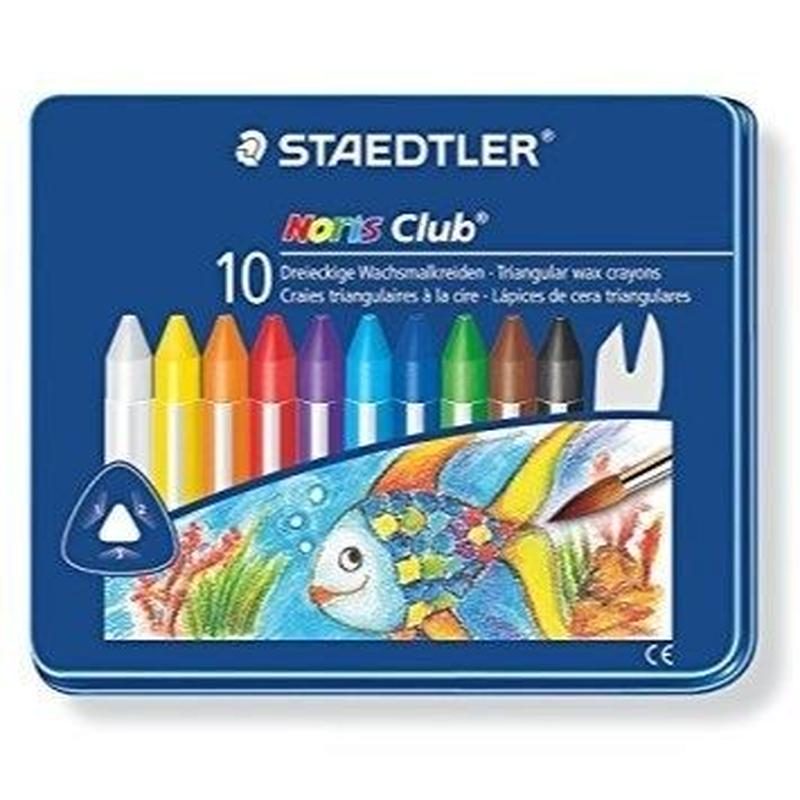 STAEDTLER ノリスクラブ トリプラスクレヨン 10color