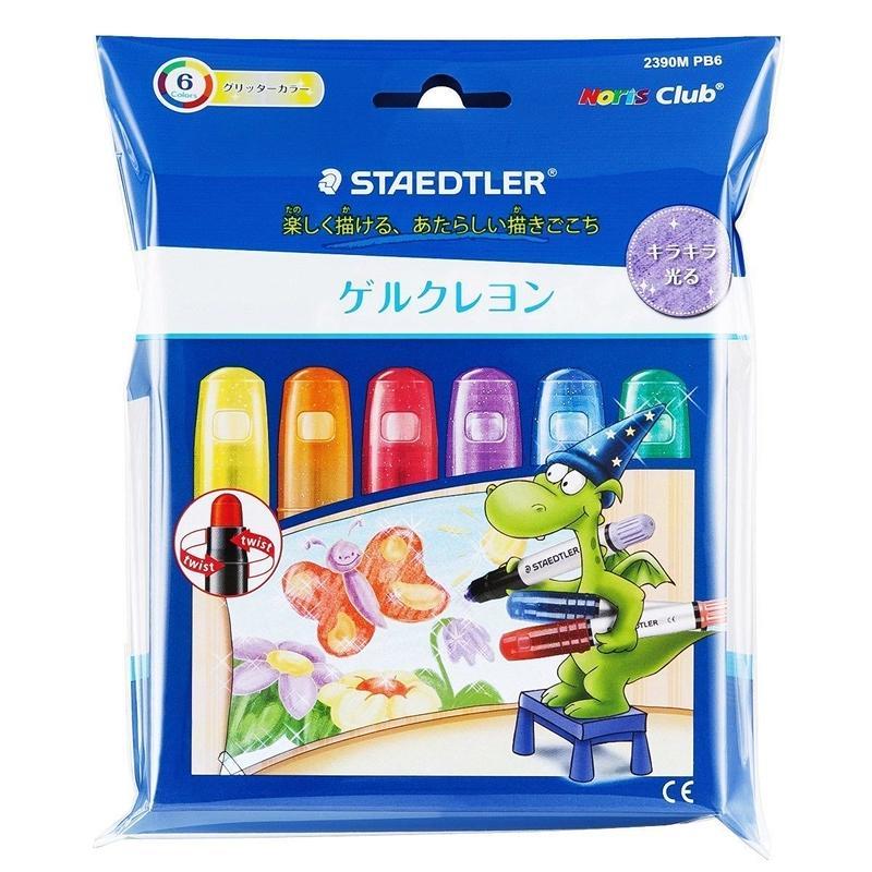 STAEDTLER ノリスクラブ ゲルクレヨン グリッターカラー 6color