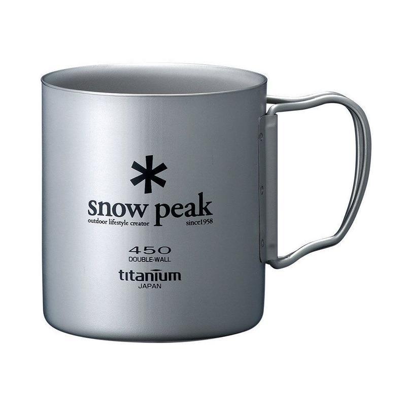 snow peak チタンダブルマグ450