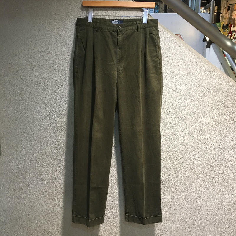 POLO RALPH LAUREN / 90's Vintage Polo Chino W : 32 OLV 879-24