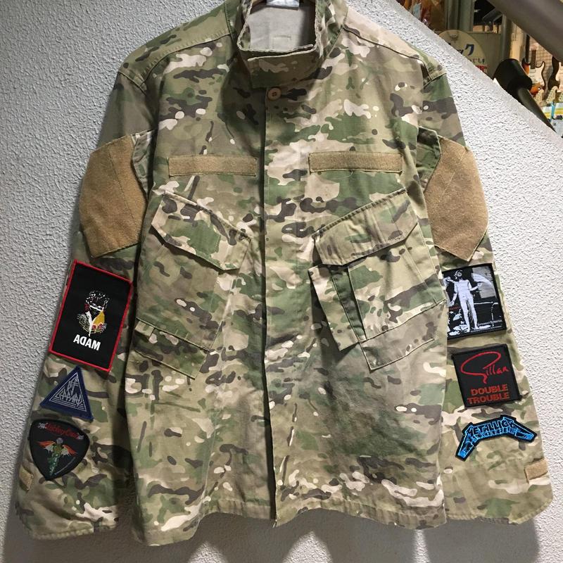 Vintage Band Patch Custom Militarry Jacket size : -- CAMO