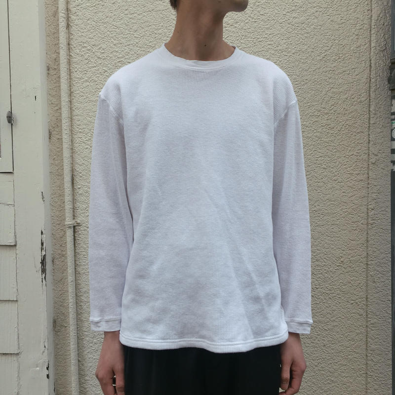 F/W FACE L/S THEMAL T-SHIRT 【着もちいい服】