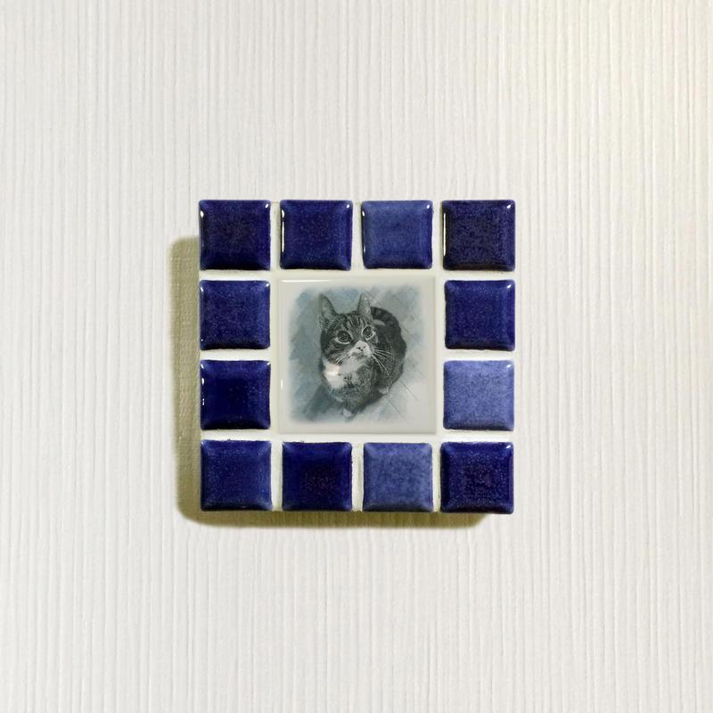 ブライトカラー/インディゴブルー(S)◆Tile Picture Frame(S)/Bright Tone/INDIGO  BLUE◆