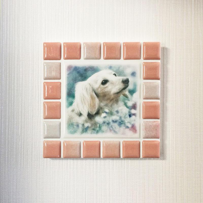 ブライトカラー/サーモンピンク(M)◆Tile Picture Frame/Bright Tone/PINK◆