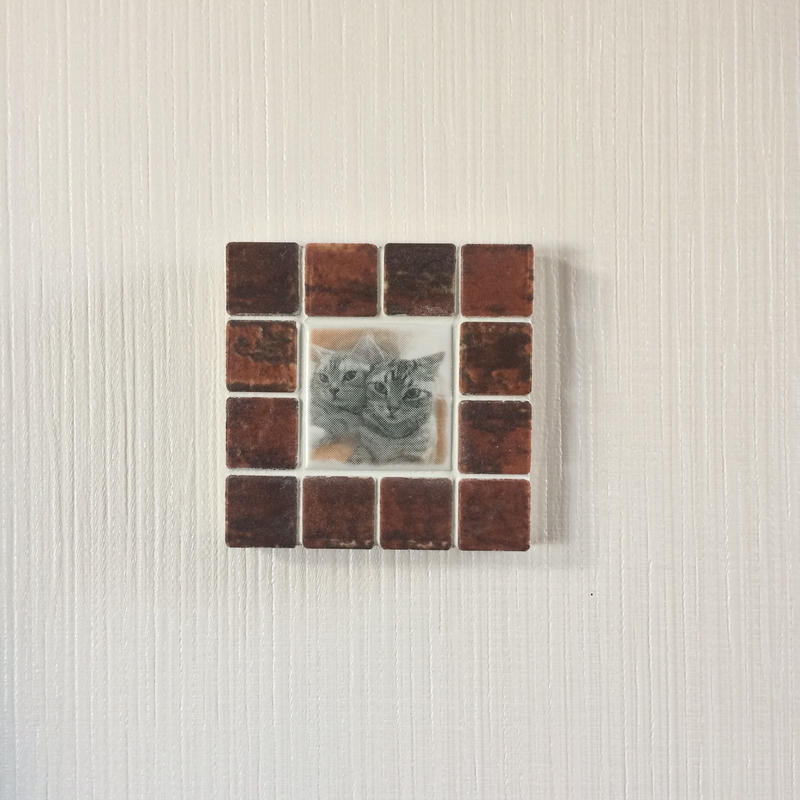 アンティークカラー/ガナシュブラウン(S)◆Tile Picture Frame(S)/Antique Tone/GANACHE BROWN◆