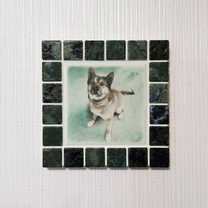 アンティークカラー/ジェードグリーン(M)◆Tile Picture Frame(M)/Antique Tone/JADE GREEN◆