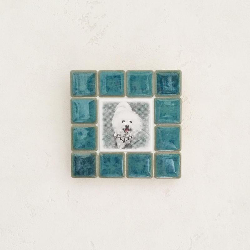 フォギーカラー/エメラルド(S)◆Tile Picture Frame(S)/Foggy Tone/EMERALD◆