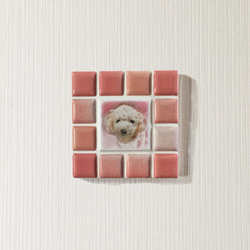 ブライトカラー/フレンチローズ(S)◆Tile Picture Frame(S)/Bright Tone/FRENCH ROSE◆